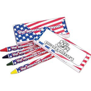 Customized Patriotic Crayon Sets