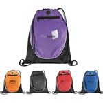 Custom Imprinted 1 Day Service Drawstring Backpacks