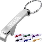 Custom Imprinted 1 Day Service Aluminum Bottle and Can Opener Key Rings