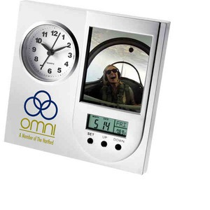 Custom Imprinted 1 Day Service Analog Alarm Clocks