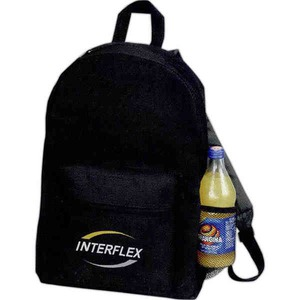 Custom Imprinted 1 Day Service Backpacks with Large Zippered Compartments
