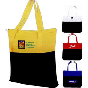 1 Day Service Tote Bags - 1 Day Service Zippered Main Compartment Tote Bags
