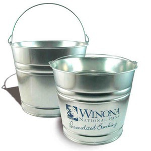 Wadayaneed 10 Quart Tin Buckets Custom Designed With