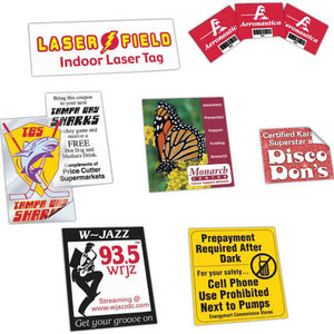 Custom Made Decals and Stickers from 10 to 16 Square Inches