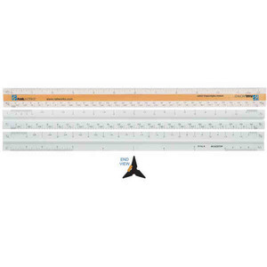 "Custom Imprinted 12"" Triangular Scale Architectural Rulers"