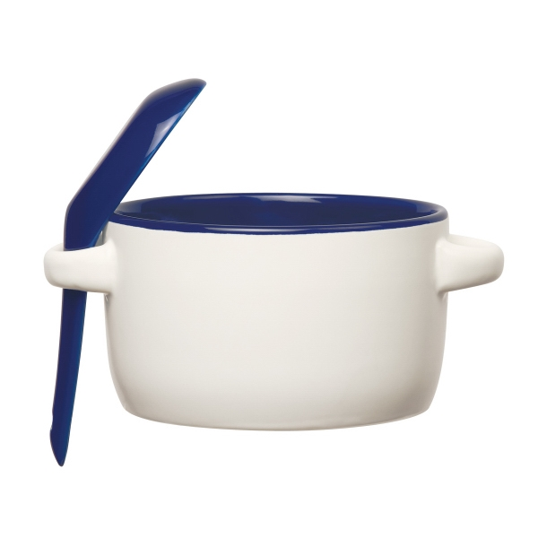 Custom Imprinted Ceramic Soup Mugs with Removable Spoons!