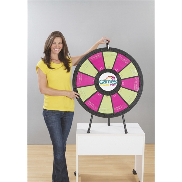 Las Vegas Themed Promotional Items - Black Table Top Prize Wheels