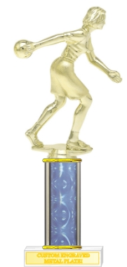 Custom Imprinted Female Bowler Bowling Trophies