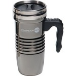 Custom Printed Black Chrome Travel Mugs!