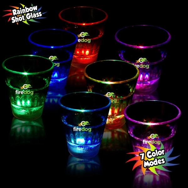 Customized Plastic Flashing Shot Glasses!