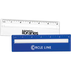Custom Imprinted 3 Day Service 2-in-1 Magnifiers with Rulers