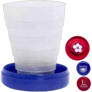 Custom Imprinted 3 Day Service Collapsible Cups with Pill Holders