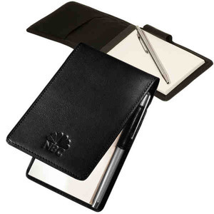 Custom Decorated 3 Day Service Faux Leather Memo Holders