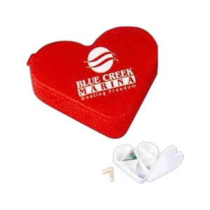 3 Day Service Shaped Pill Boxes - 3 Day Service Heart Shaped Pill Organizers