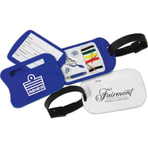 Custom Imprinted 3 Day Service Luggage Tags with Sewing Kits
