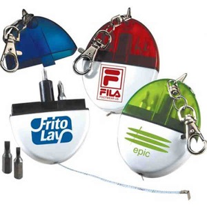 3 Day Service Tools and Tape Measures - 3 Day Service Translucent 5 Function Tool Kit Keychains