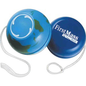 Globe and Earth Promotional Items - 3 Day Service World and Globe Yo Yos