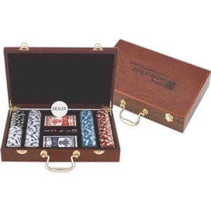 Las Vegas Themed Promotional Items - 300 Chip Professional Poker Sets