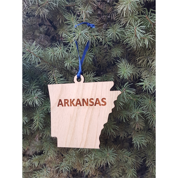 Custom Printed State Shaped Ornaments