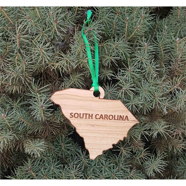 Custom Imprinted South Carolina State Shaped Ornaments