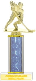 Custom Engraved Male Action Hockey Player Trophies