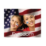 Custom Imprinted 4th of July Paper Picture Frames