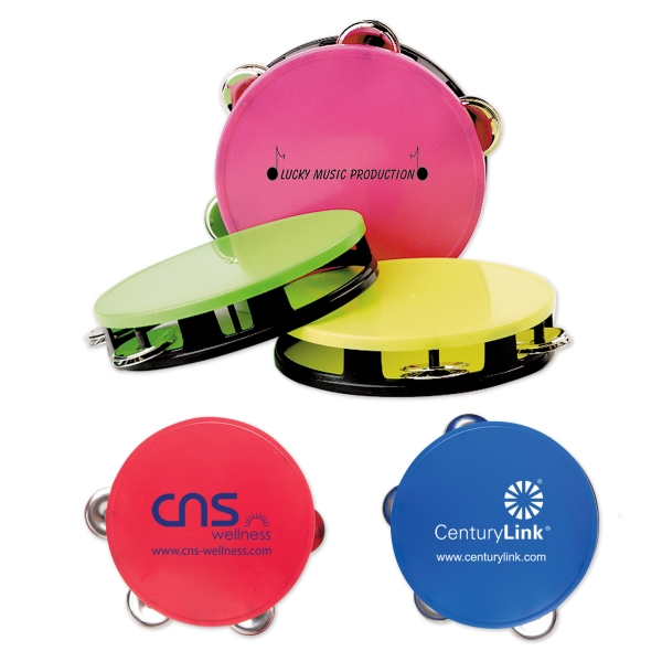 Custom Imprinted Medium Neon Tambourines