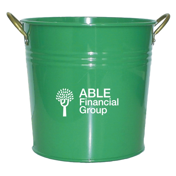 Custom Imprinted Colored Flower Pails