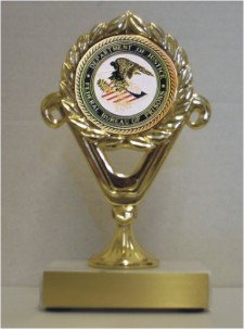 Custom Engraved Department of Justice Federal Bureau of Prisons Trophies!