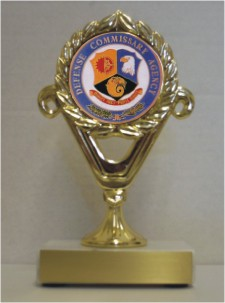 Custom Engraved Defense Commissary Agency     Trophies