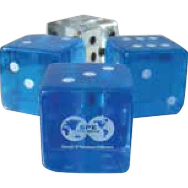 Custom Imprinted 5/8 Inch Transparent Dice