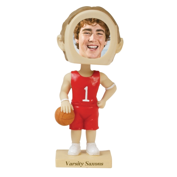 Custom Imprinted Basketball Bobble Head Picture Frames