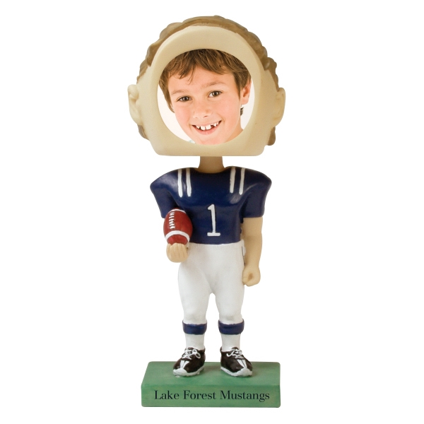 Bobble Head Picture Frames - Football Player Bobble Head Picture Frames