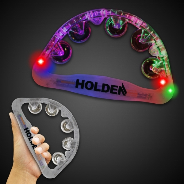 Custom Imprinted Clear Light Up Tambourines!