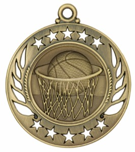 Custom Made Basketball Sunray Medals!
