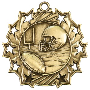 Custom Imprinted Football Sunray Medals