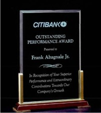 Personalized Airflyte Acrylic Honor Award Engraved!