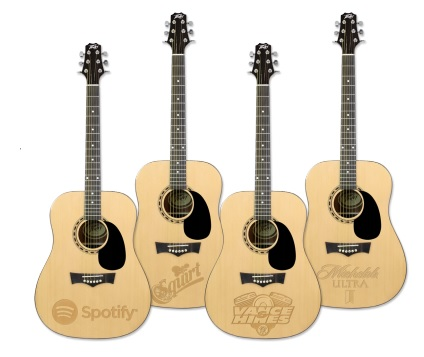 Laser Engraved Acoustic Guitars!