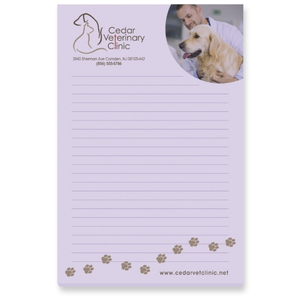 Customized 100 Sheet Post-It Notepads!