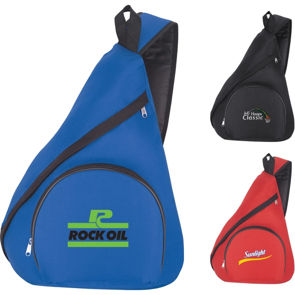 Custom Imprinted 1 Day Service Single Strap Sling Bag Backpacks!