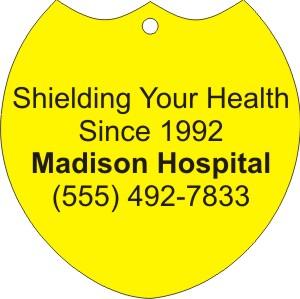 Personalized Shield 3 Shield Stock Shape Air Fresheners!