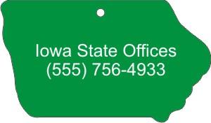 Custom Designed Iowa State Stock Shape Air Fresheners!