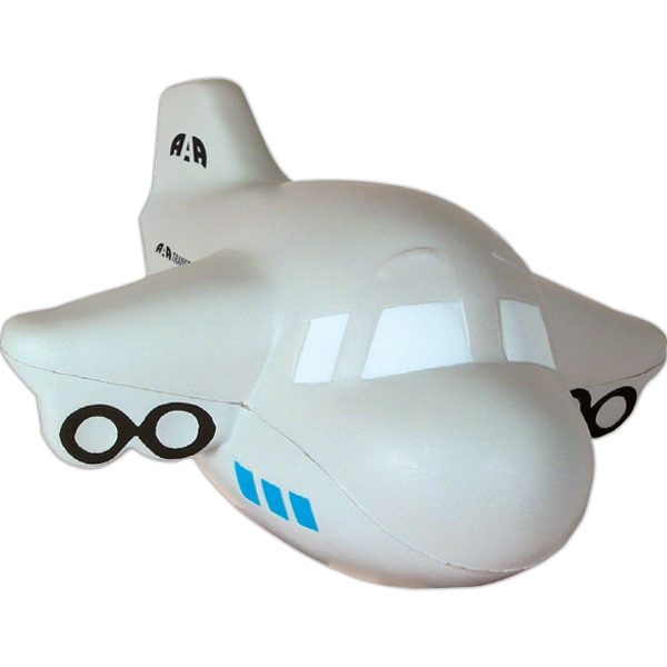 Custom Imprinted Airplane Stress Ball Squeezies