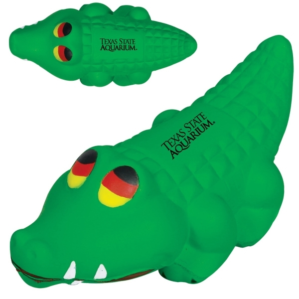 Custom Imprinted Alligator Stress Ball Squeezies