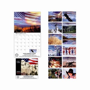 Custom Imprinted America the Beautiful Wall Calendars