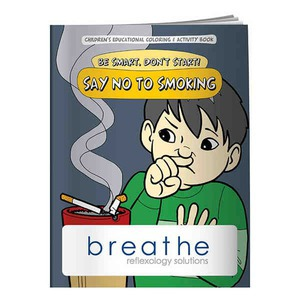 Customized Anti Smoking Themed Coloring Books