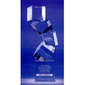 Custom Printed Arabesque Vertical Crystal Awards