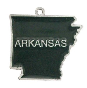 Custom Imprinted Arkansas State Shaped Ornaments!