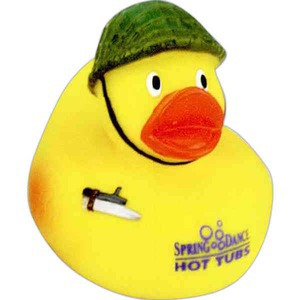 Custom Imprinted Army Rubber Ducks