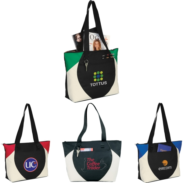 1 Day Service Tote Bags - 1 Day Service Tote Bags with Flash Drive Ports